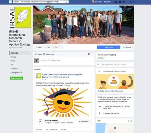 IRSAE on Facebook!